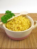 Soup noodles and parsley Royalty Free Stock Photo