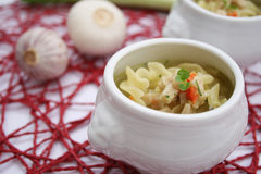 Soup with noodles. Some fresh soup with noodles Stock Image