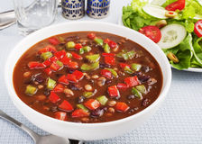Soup och sallad Royaltyfria Foton
