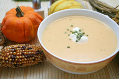 Soup Of A Pumpkin Royalty Free Stock Photos
