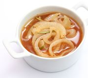 Soup of onions Stock Images