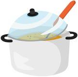 Soup pan Stock Images