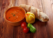 Soup or Pappa al Pomodoro Royalty Free Stock Photo