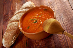 Soup or Pappa al Pomodoro Royalty Free Stock Photography