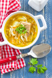 Soup with pasta Stock Image