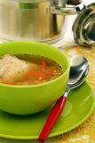 Soup with pasta and chicken. Royalty Free Stock Images