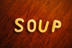 Soup pasta Stock Images