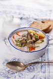 Soup with pasta and vegetables Stock Images