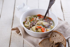 Soup with pasta and vegetables Royalty Free Stock Photography