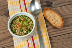 Soup with pasta and vegetables Royalty Free Stock Images