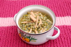 Soup of peas Royalty Free Stock Images