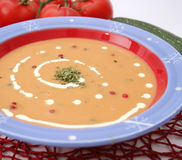 Soup of pepper Stock Image