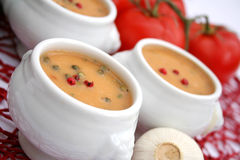 Soup with pepper seeds Royalty Free Stock Image