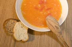 Soup in a plate. Stock Photos