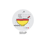Soup Plate Cooking Utensils Kitchen Equipment Appliances Icon Stock Photo