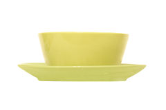 A soup plate and a dinner plate Royalty Free Stock Photo