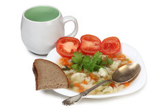 Soup in plate Royalty Free Stock Photography