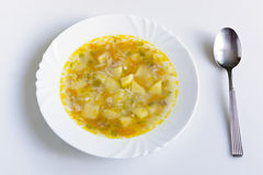 Soup in plate Stock Photography