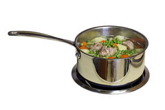 Soup in the pot Stock Photography