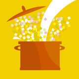 Soup pot Stock Image
