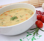 Soup of potaoes Royalty Free Stock Photography
