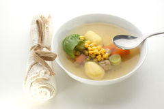 soup with potato, carrot and meat balls Royalty Free Stock Photos