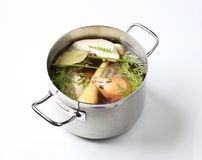Soup preparation Stock Images