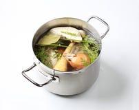 Soup preparation Stock Images