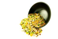 Soup Pulses Spilling from a Bowl Royalty Free Stock Photos