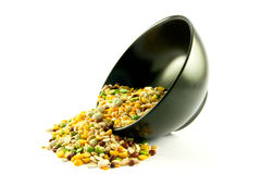 Soup Pulses Spilling from a Bowl Royalty Free Stock Images