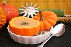 Soup of a pumpkin Royalty Free Stock Photography