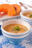 Soup with pumpkin Stock Photo