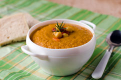 Soup puree of chickpea Royalty Free Stock Image