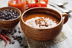 Soup with red bean Stock Image