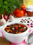 Soup of red beans. Royalty Free Stock Images