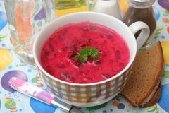 Soup of red beet roots Royalty Free Stock Photo