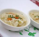 Soup with rice Stock Image