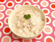 Soup of rice and fish Royalty Free Stock Photography