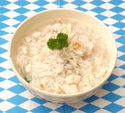 Soup of rice and fish Royalty Free Stock Images