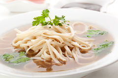 Soup with Rice Noodle Stock Images