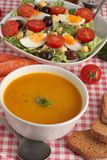 Soup and Salad Royalty Free Stock Photos