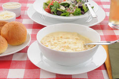 Soup and salad Stock Images
