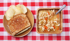 Soup and sandwich Royalty Free Stock Image