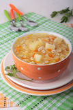 Soup of sauerkraut with pearl barley Royalty Free Stock Images