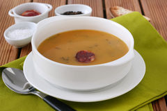 Soup with sausage Stock Image