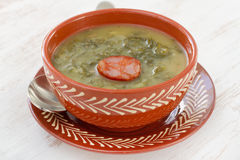 Soup with sausage Royalty Free Stock Photography