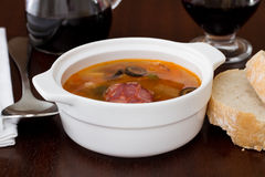 Soup with sausages Royalty Free Stock Photo