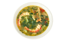Soup with seafood Stock Images