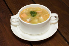 Soup with seafood Stock Photos