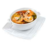 Soup from seafood Stock Images